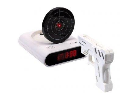 7725 led budik s laserovou pistoli a tercem