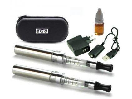 2Ks Elektronická cigareta eGo - CE4 1100mAh 2ks v pouzdře STŘÍBRNÁ  Stylové balení elektronických cigaret EGO 1100 mAh