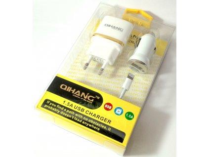 3v1 nabíjecí sada pro Apple zařízení - EU adaptér a kabel Lightning - bílá