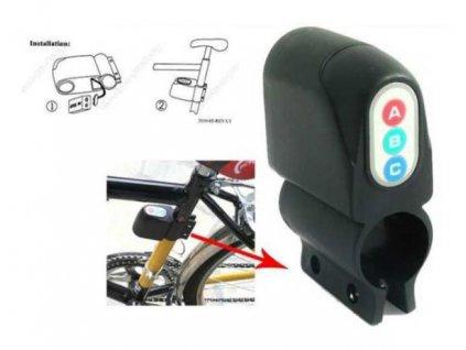 Alarm na kolo s detekcí manipulace zaparkovaného kola se sirenou 110 dB.
