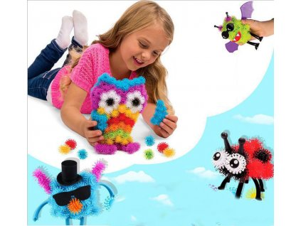 150pcs pack Puff Squeezed Ball Thorn Ball Clusters Handcraft Building Block Construction Toy Set Kids Art (1)