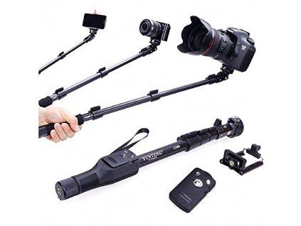 Selfie tyč se stativem, bluetooth a rozpětím až 1250 mm