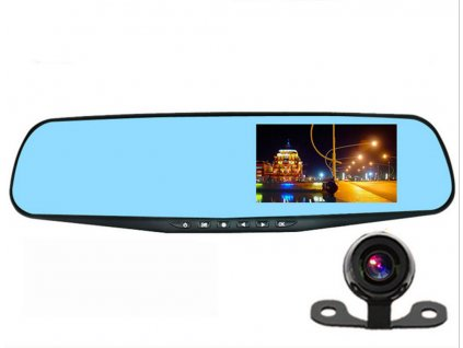 HD DuaL Lens Rearview Mirror Car Recorder Accident Camcorder Front View and Rear ViewVideo Recording