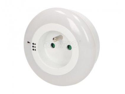Noční LED světlo s průběžnou zásuvkou,  3 barvy svitu