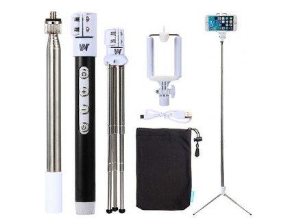 Selfie tyč (bluetooth) + STATIV ČERNÁ  Kvalitní selfie tyč se stativem pro ty nejlepší snímky