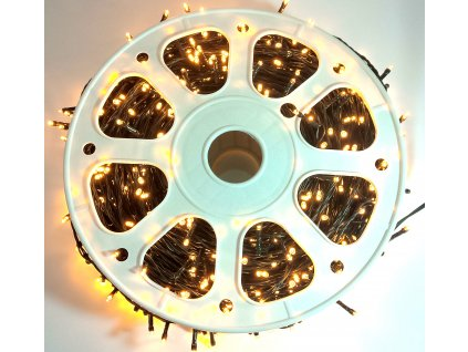Vánoční osvětlení, světelný řetěz venkovní 100m - Bílá Teplá