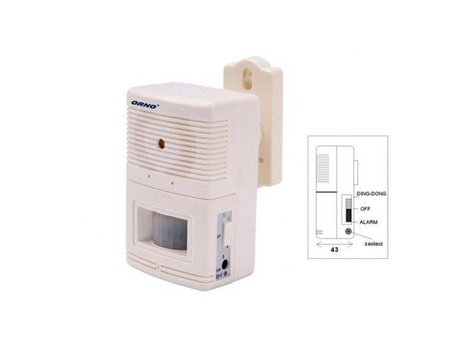 autonomni signalizator pruchodu osob a jednoduchy minialarm