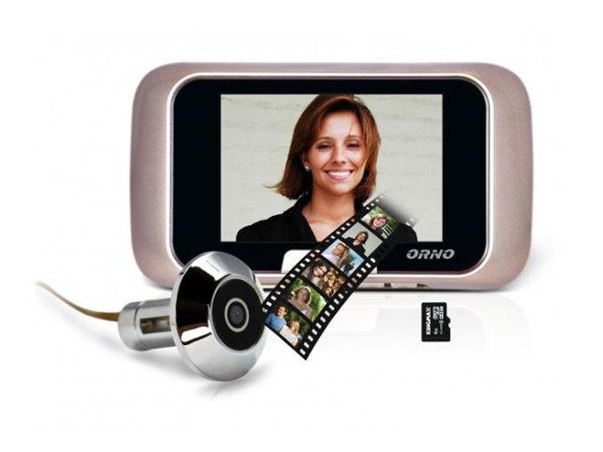 Digitální dveřní kukátko špionážní kamera - vnitřní záznamový LCD monitor