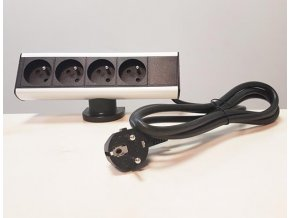 Zásuvková skříň s úchytem na kraj stolu, 4x zásuvky 230V, 1,8m nap. kabel ORNO AE 13102