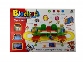 Vláčkodráha Blocks Train - 54 dílů