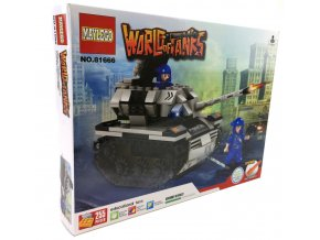 Stavebnice World bojový tank 255ks