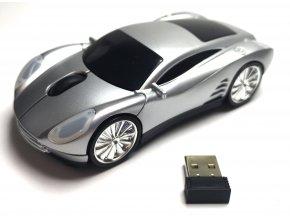 Bezdrátová optická myš ve tvaru auta Ferrari