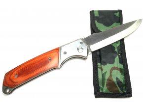 Vystřelovací nůž s dřevěným obložením 24 cm