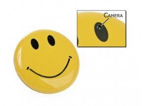Skrytá kamera se záznamem pro skryté nahrávání, vhodná i pro uchycení na palubní desku do auta  CAR CAM SMILEY