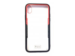6810 2 pruhledny obal s gumovym rameckem pro iphone xr