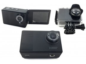 6867 12 sportovni selfie 4k hd kamera wi fi s vodotesnym pouzdrem