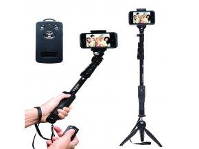 selfie monopod extendable handheld pole with shutter yunteng yt 1288