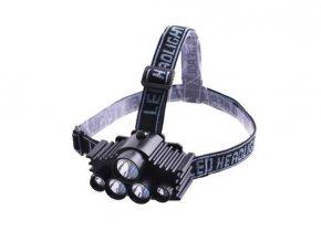 LED čelovka s vysokým svitem 5x LED