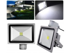 LED Floodlight PIR Sensor 20 30 50W Security Garden Wall