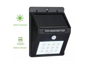 Venkovní solární svítidlo s pohybovým senzorem