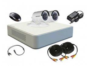 Sada záznamového kamerového systému Hikvision turbo HD, 2 venkovní kamery a DVR s HDD 1TB