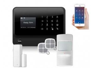 Wifi bezdrátový a drátový domovní GSM alarm s klávesnicí