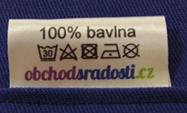 Prací symboly pro pohankové polštáře