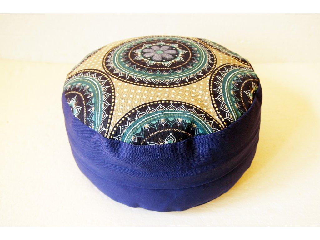 Meditační sedák s modrou mandalou - modrý - Obchod s radostí 6b01f4056d