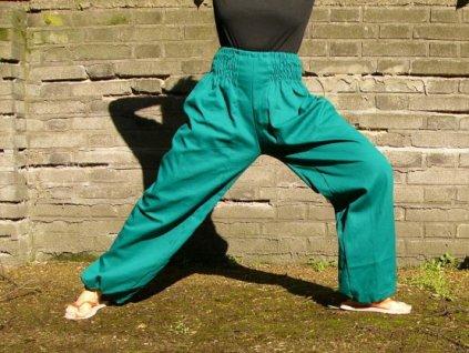 Kalhoty bavlněné volné JEDNOBAREVNÉ UNI - vyberte barvu