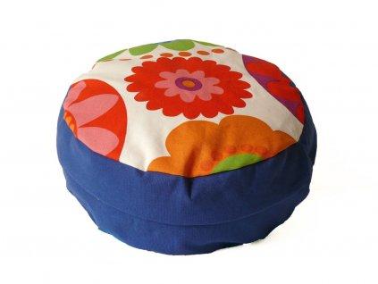 Meditační sedák s květinou