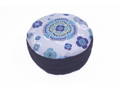 Meditacni pohankovy polstar s mandalou sedivy