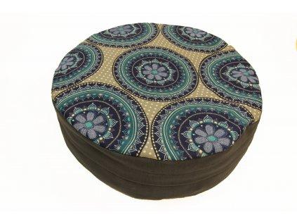Meditační sedák s modrou mandalou