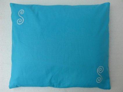 Pohankový polštářek na spaní tyrkysový - spirály