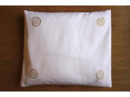 Pohankový polštář na spaní bílý se spirálama