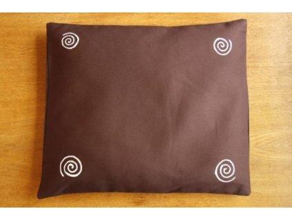 Pohankový polštář na spaní hnědý se spirálama