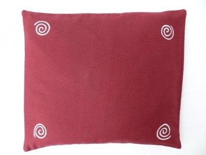 Pohankový polštář na spaní vínový se spirálama