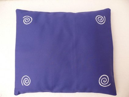 Pohankový polštář na spaní modrý se spirálama