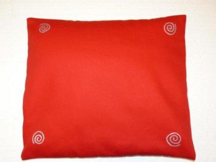 Pohankový polštář na spaní červený se spirálama