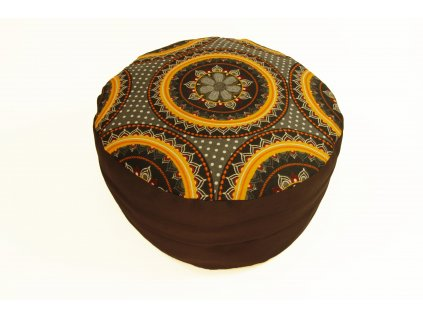 Meditacni pohankovy polstar sedak s oranzovou mandalou3