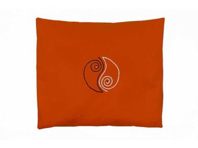 pohankový polštářek jin jang oranžový
