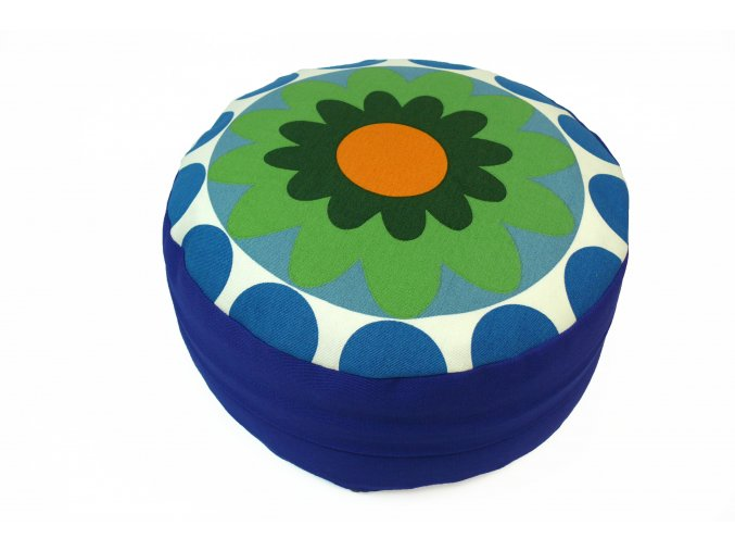 Meditani postar s kvetinou modry