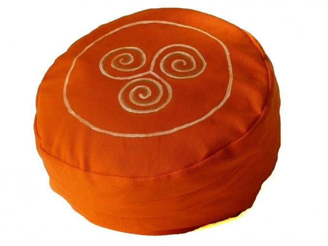 Meditační sedák trojspirála oranžový