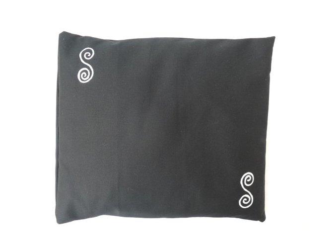 Pohankový polštářek na spaní černý - spirály