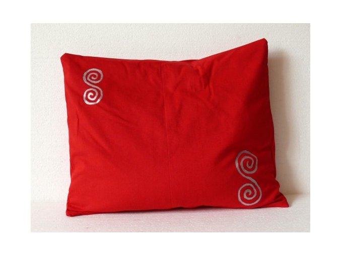 Pohankový polštářek na spaní červený - spirály