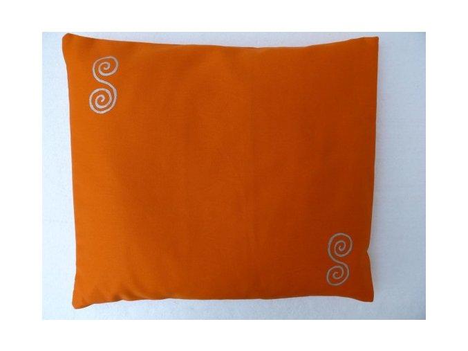 Pohankový polštářek na spaní oranžový - spirály
