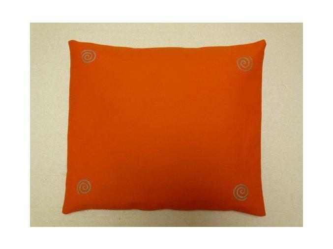 Pohankový polštář na spaní oranžový se spirálama