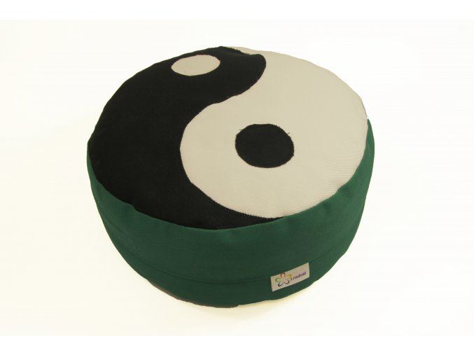 Meditacni pohankovy polstar sedak zeleny jin jang