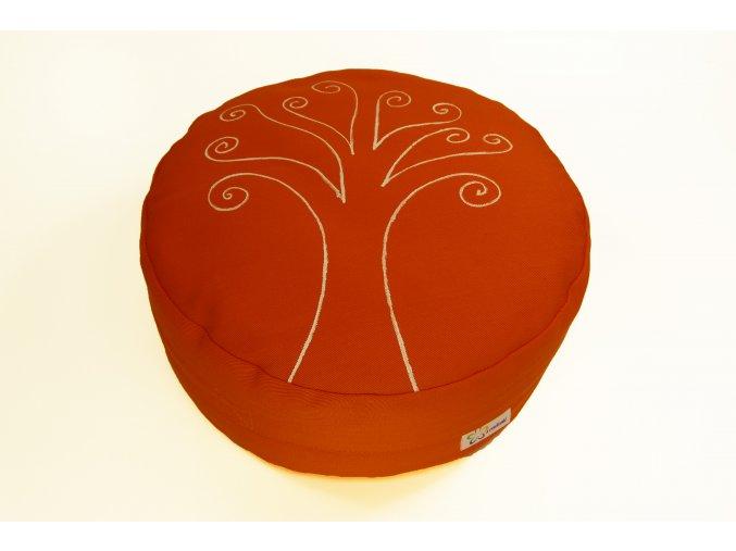 Meditacni pohankovy sedak polstar strom zivota oranzovy