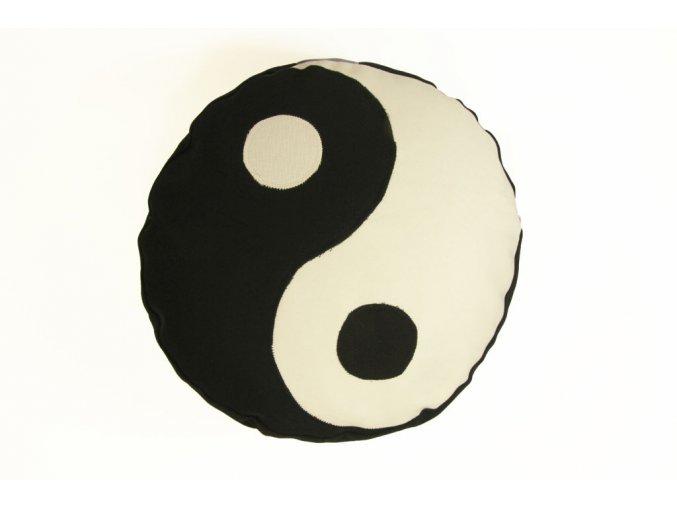 Meditacni pohankovy polstar sedak jin jang kruh