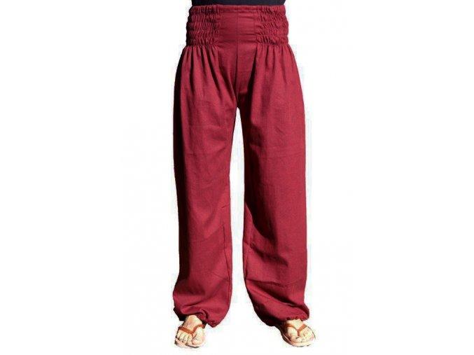 Volnočasové kalhoty bordo